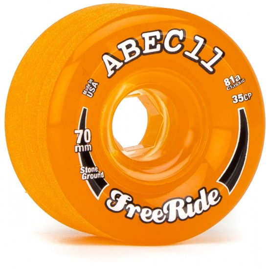 Abec11 Classic FreeRide Amber 70mm x 81a Wheels