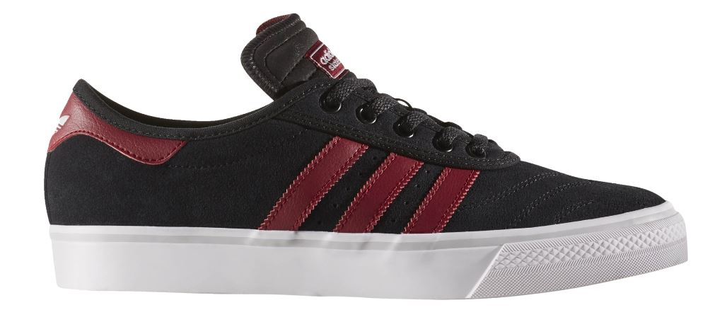 Adidas Adi-Ease Premiere Black/Burgundy/White Skateboard Shoes