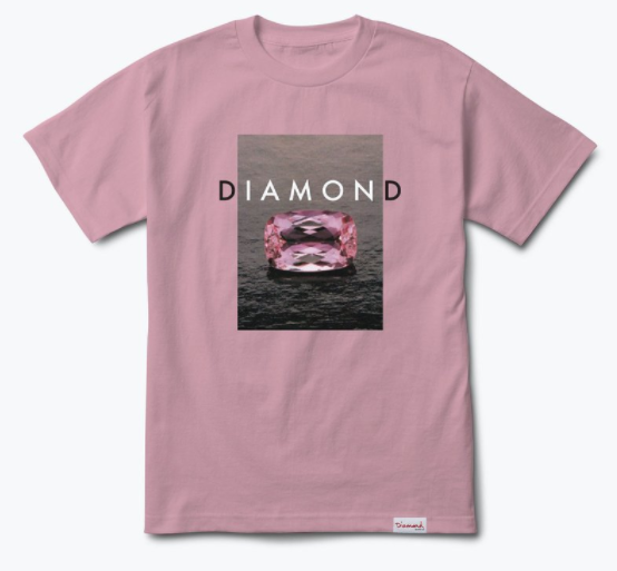 Diamond Supply Co. Spectrum Pink Tee
