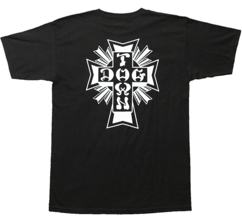 Dogtown Cross Logo Black Tee