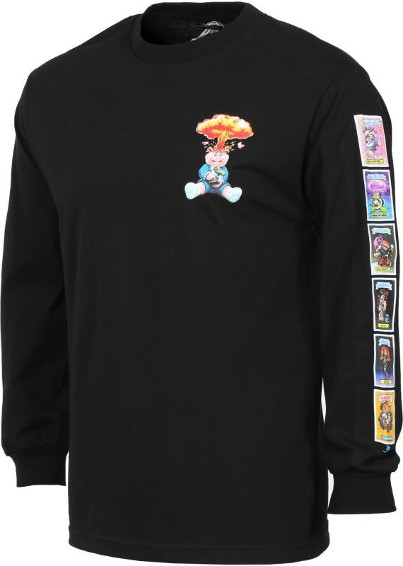 Santa Cruz Garbage Pail Kids Nostalgia Overlord Black Long Sleeve Tee