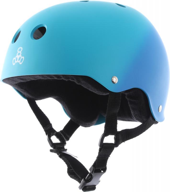 Triple 8 Pro Blue Fade Rubber Helmet