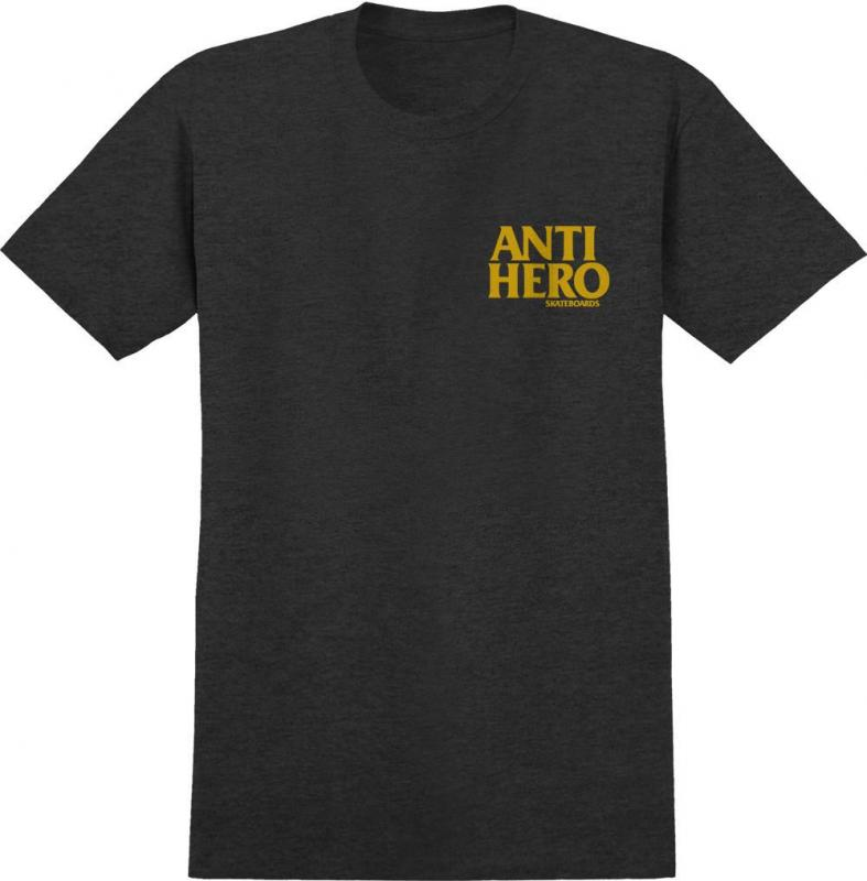 Anti Hero Lil Blackhero Charcoal/Yellow Tee