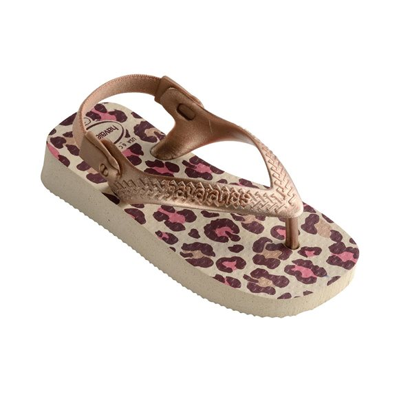 Havaianas Baby Chic Beige-Rose Gold Thongs1