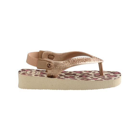 Havaianas Baby Chic Beige-Rose Gold Thongs2