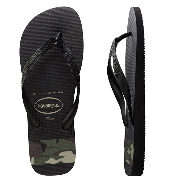Havaianas Men's Stripes Camo Black-Green Thongs