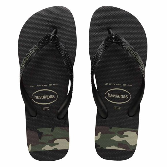 Havaianas Men's Stripes Camo Black-Green Thongs3