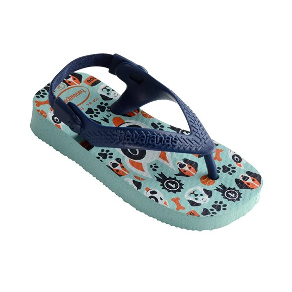 Havaianas Pets Ice Blue-Navy Blue Baby Thongs1