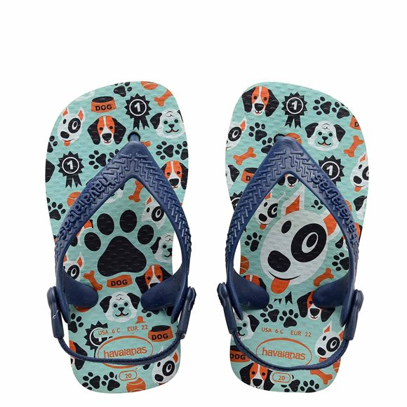 Havaianas Pets Ice Blue-Navy Blue Baby Thongs3