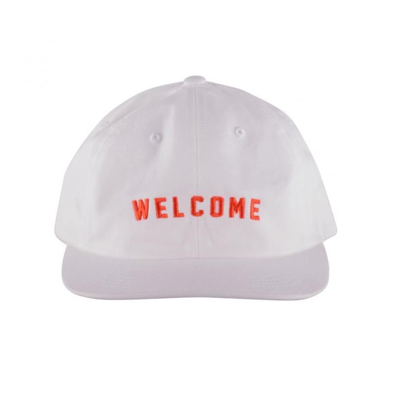 Welcome Academic Unstructured White-Orange Snapback
