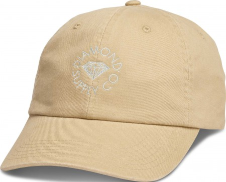 Diamond Supply Co Circle Logo Khaki Strapback