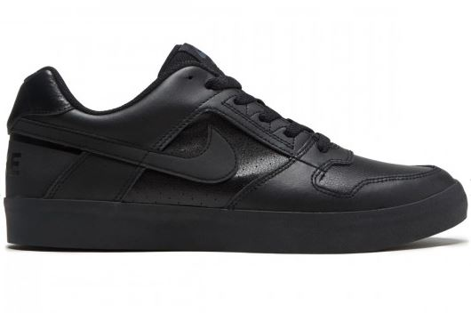 077a77e6 Nike SB Delta Force Black/Black Leather Shoes