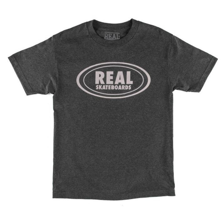 Real Oval Dark Heather Tee