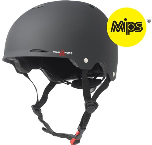 Triple 8 Gotham Dual Certified with MIPS Black Helmet