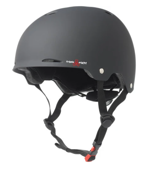 Triple 8 Gotham Black Rubber Helmet