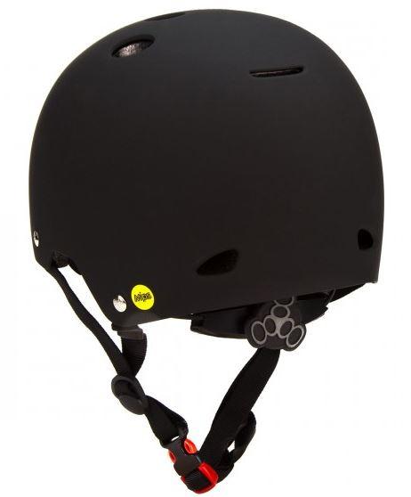 Triple 8 Gotham Dual Certified w/ MIPS Black Helmet