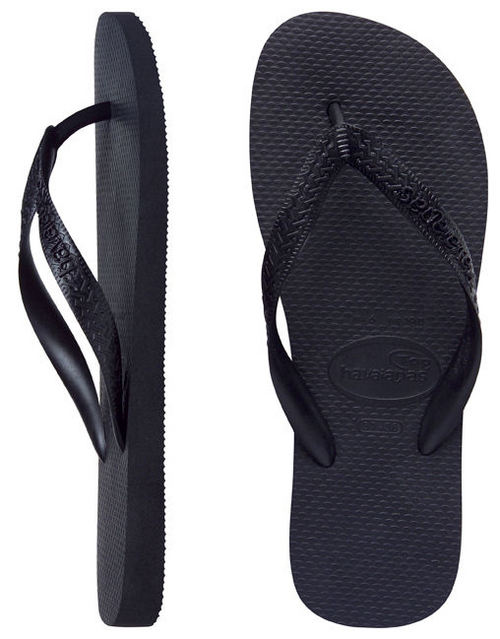 Havaianas Men's Top Black Thongs