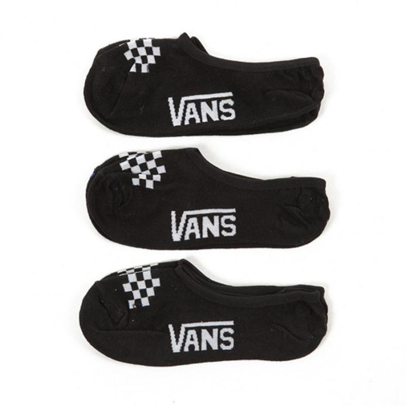 Vans Canoodle No-Show 3 Pack Black Socks