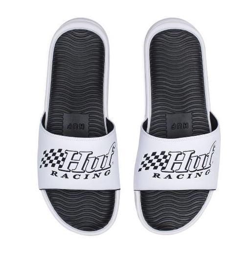 Huf Racing White/Black Slides