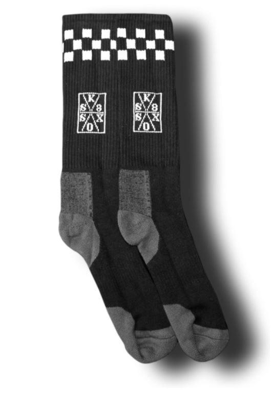 Sk8 Sox Pool Tile Black/White Socks