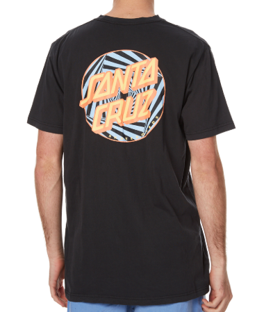 Santa Cruz Party Pop Black Tee