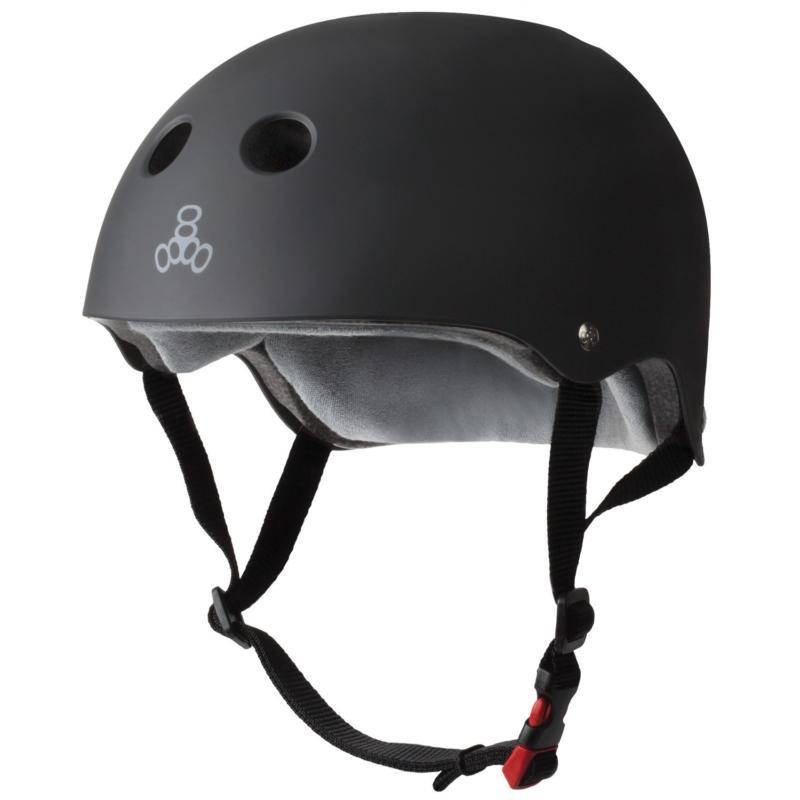 Triple 8 Certified Sweatsaver Black Rubber Helmet