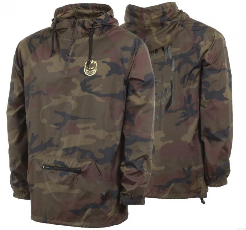 Spitfire Bighead Double Packable Camo Anorak Windbreaker