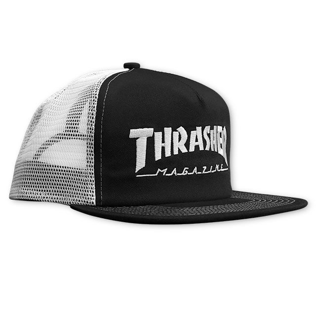 Thrasher Embroidered Logo Black/White Trucker