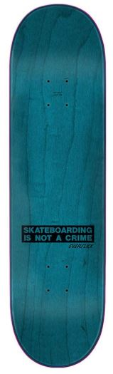 Santa Cruz Everslick Skateboarding Is Not a Crime 8 5″ Deck