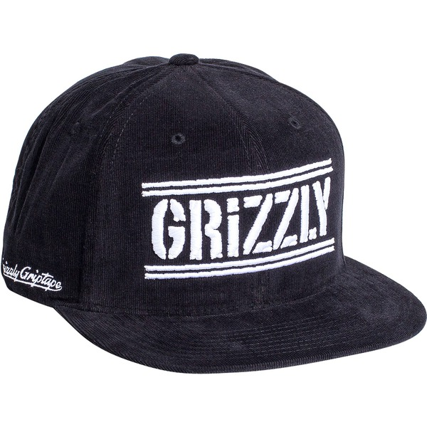 Grizzly Hunters Corduroy Black Snapback