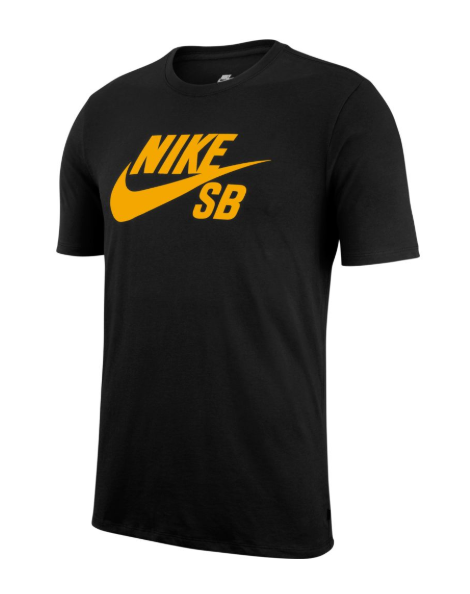 Nike SB Dri-Fit Icon Logo Black/Yellow Ochre Tee