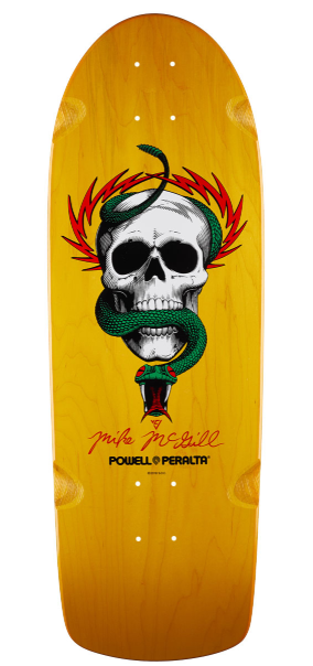 "Powell Peralta Mike McGill Skull & Snake Yellow 10"" Deck"