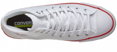 Converse CTAS Pro High Canvas White/Red Shoes