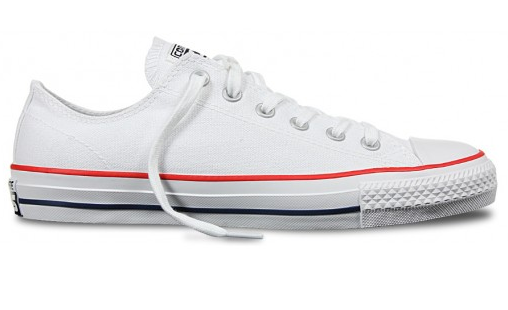 Converse CTAS Pro Low Canvas White/Red/Blue Shoes
