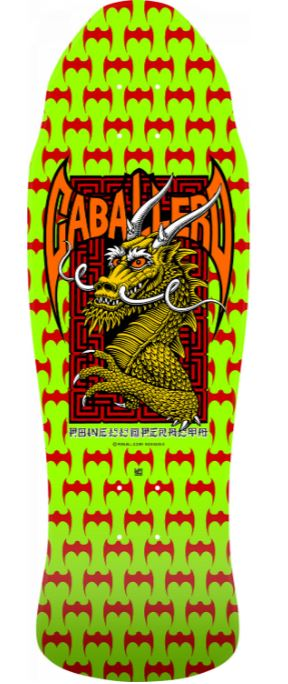 "Powell Peralta Caballero Street Lime Green 9.625"" Deck"
