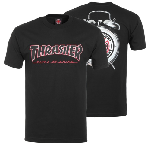Thrasher x Independent Time to Grind Black Tee