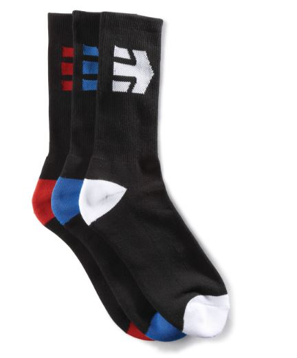 Etnies Direct Black 3 Pack Socks