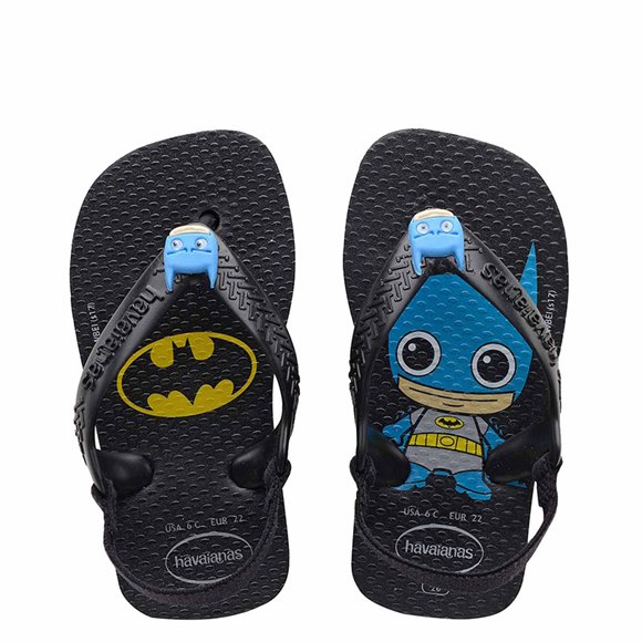 Havaianas Baby New Herois Black Thongs