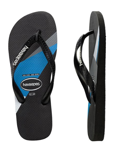 Havaianas Kids (Geo) Black/Turquoise Thongs