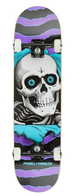 "Powell Peralta Ripper One Off Purple/Turquoise 8"" Complete"