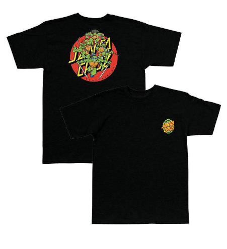 Santa Cruz x Teenage Mutant Ninja Turtles Black Youth Tee