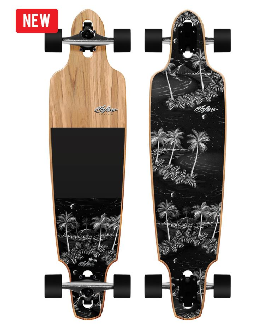 "OBfive Midnight Drop Through 38"" Longboard"