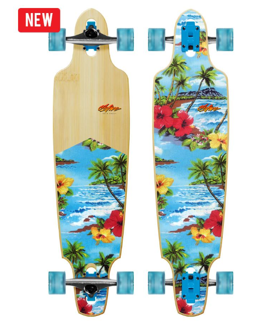 "OBfive Paradise City Drop Through 38"" Longboard"
