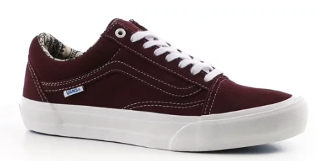 Vans Old Skool Pro Ray Barbee OG Burgundy Shoes