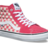 Vans SK8 High Pro Checkerboard Desert Rose Shoes