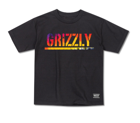 Grizzly Acid Test Stamp Black Cub Tee