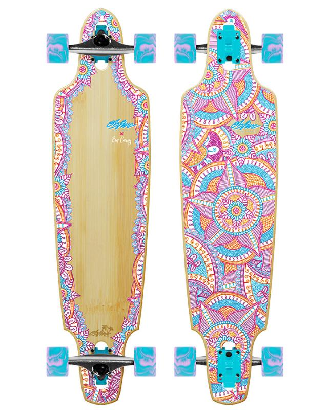 "OBfive Em Carey Drop Through 38"" Skateboard Longboard"