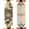"""Gold Coast Longboards Wanderlust Orange Swirl 38"""" Complete"""