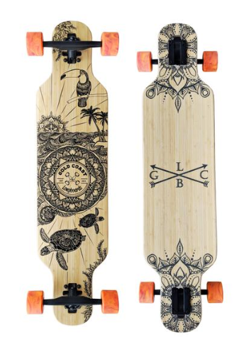 "Gold Coast Longboards Wanderlust Orange Swirl 38"" Complete"