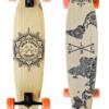 """Gold Coast Longboards Wanderlust Orange Swirl 38"""" Kicktail Complete"""